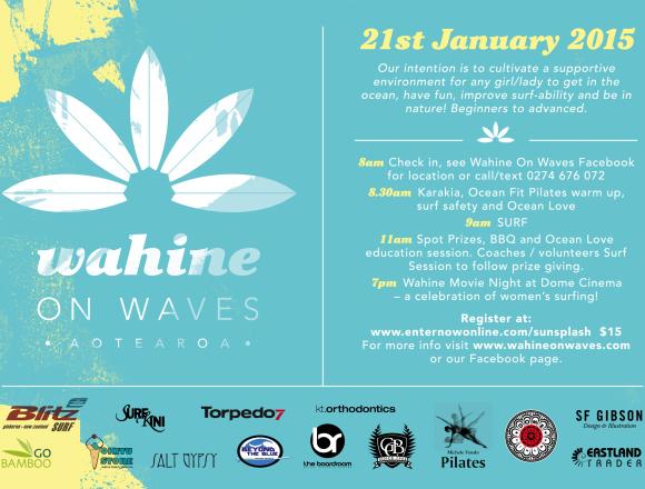 Wahine on Waves 21st January 2015 Gisborne New Zealand